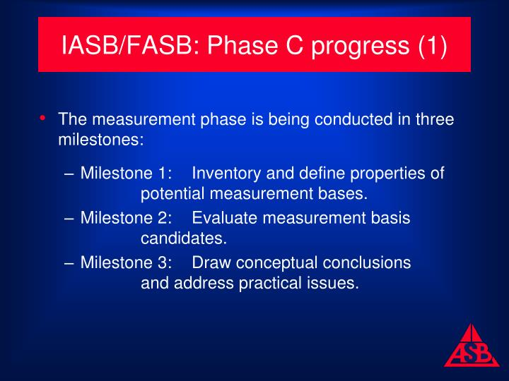 IASB/FASB: Phase C progress (1)