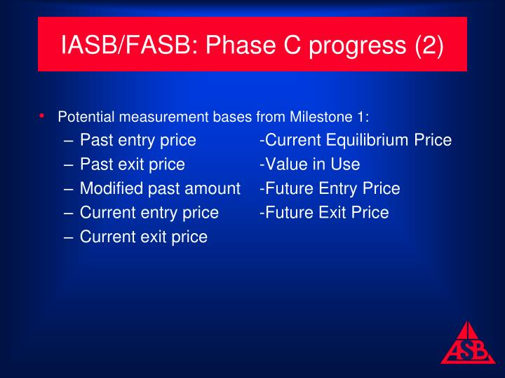 IASB/FASB: Phase C progress (2)