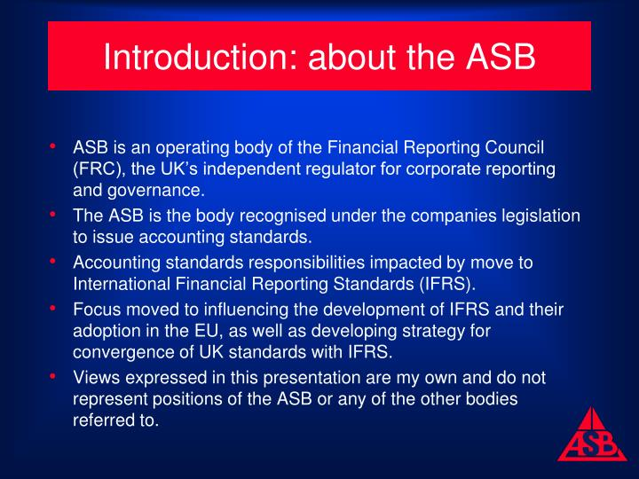 Introduction about the asb