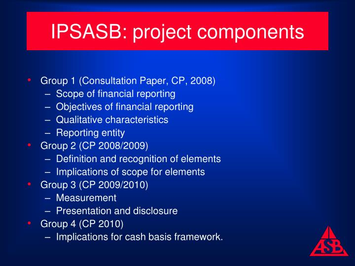 IPSASB: project components