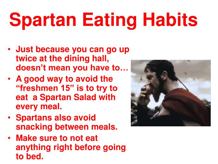 Spartan eating habits