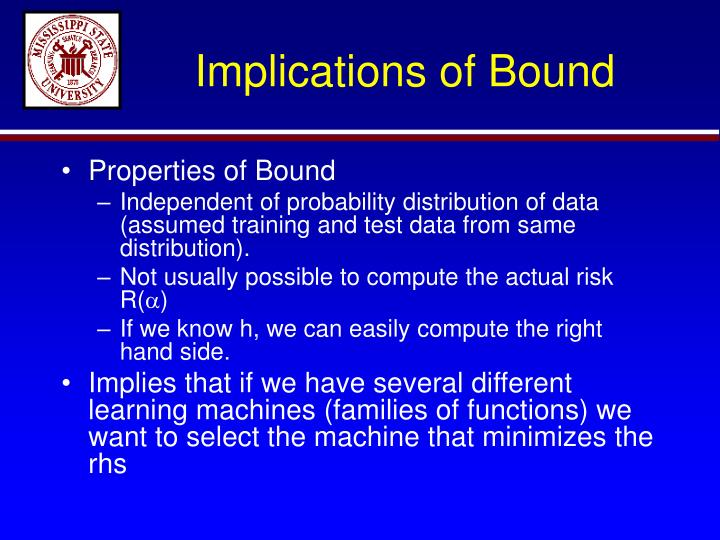 Implications of Bound