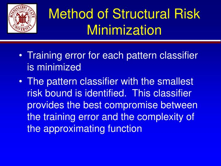 Method of Structural Risk Minimization
