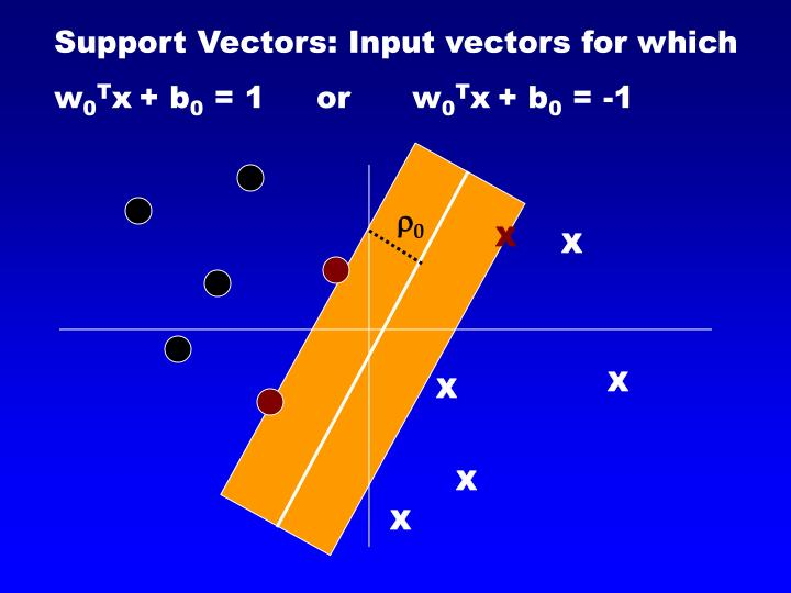 Support Vectors: Input vectors for which