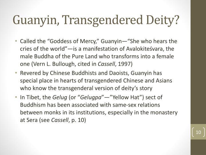 Guanyin, Transgendered Deity?