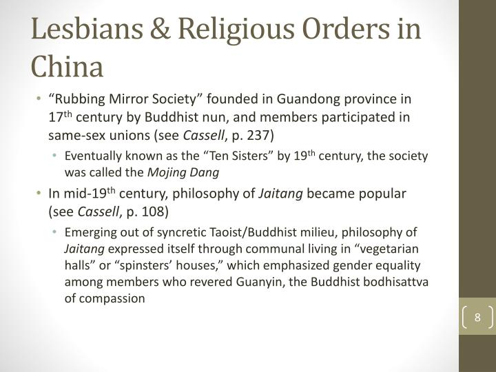 Lesbians & Religious Orders in China