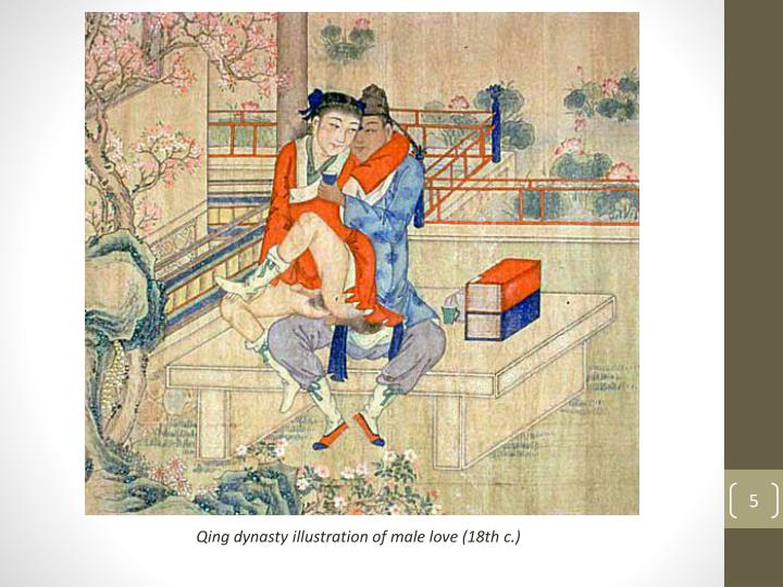 Qing dynasty illustration of male love (18th c.)