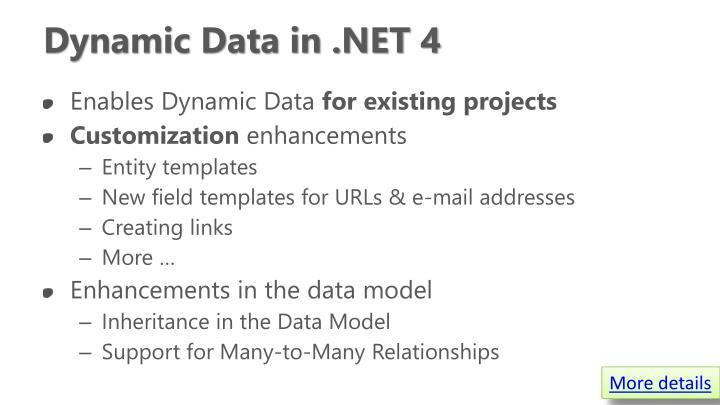 Dynamic Data in .NET 4