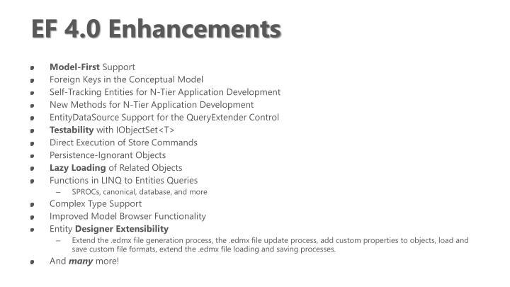 EF 4.0 Enhancements