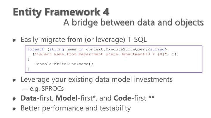 Entity Framework 4