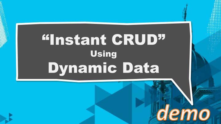 """""""Instant CRUD"""""""