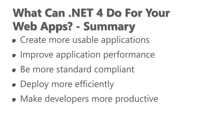What Can .NET 4 Do