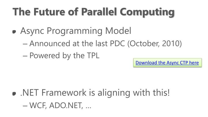 The Future of Parallel Computing