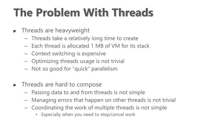 The Problem With Threads