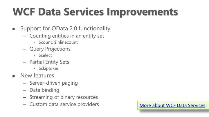 WCF Data Services Improvements