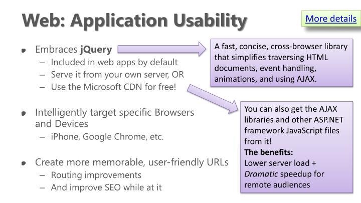 Web: Application Usability