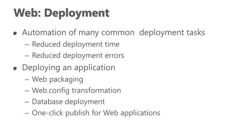 Web: Deployment