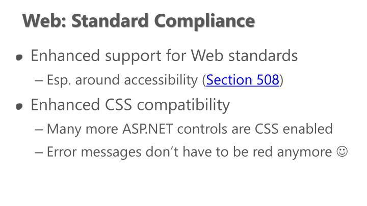 Web: Standard Compliance