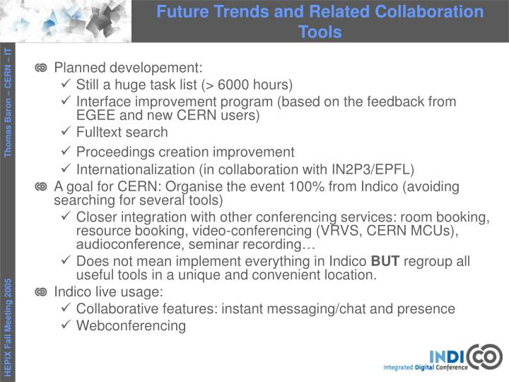 Future Trends and Related Collaboration Tools