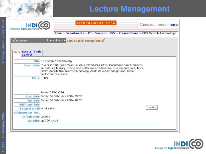 Lecture Management