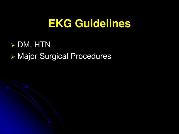 EKG Guidelines