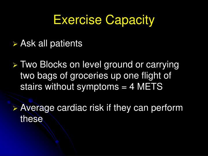 Exercise Capacity