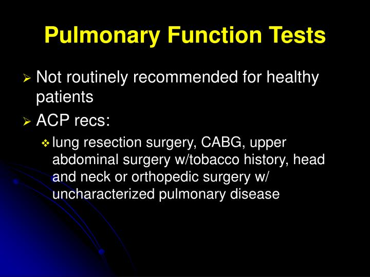 Pulmonary Function Tests