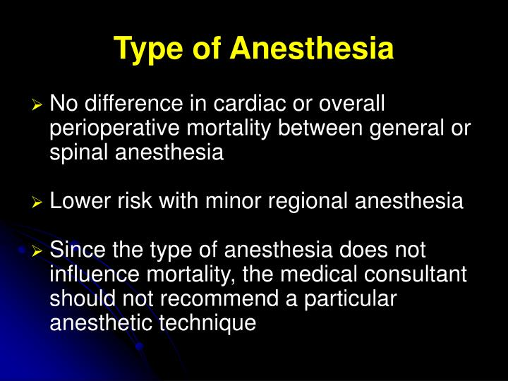 Type of Anesthesia