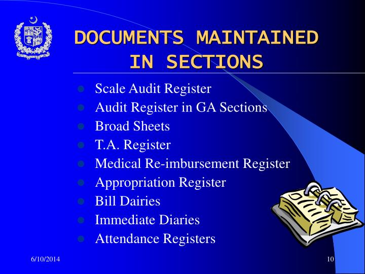 DOCUMENTS MAINTAINED
