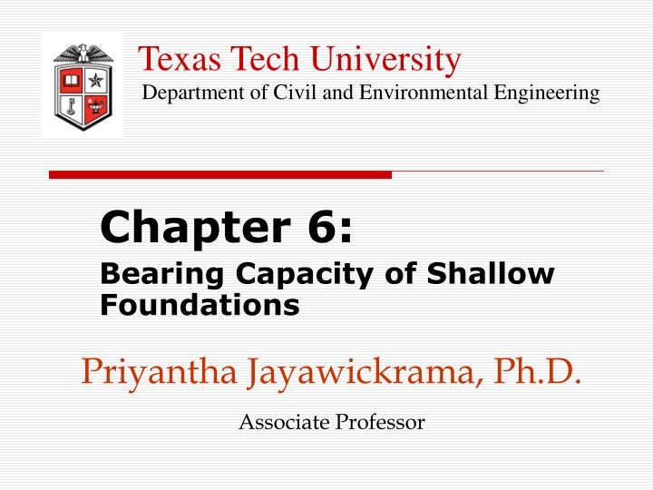 Priyantha jayawickrama ph d associate professor