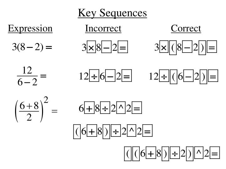 Key Sequences
