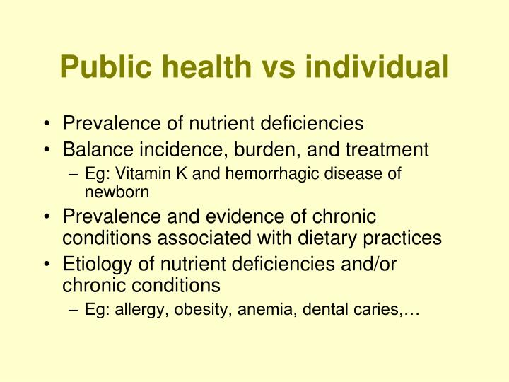 Public health vs individual