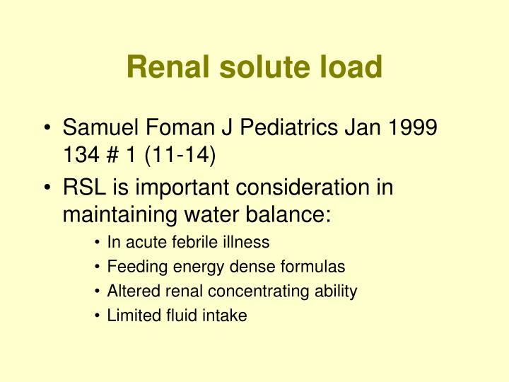 Renal solute load