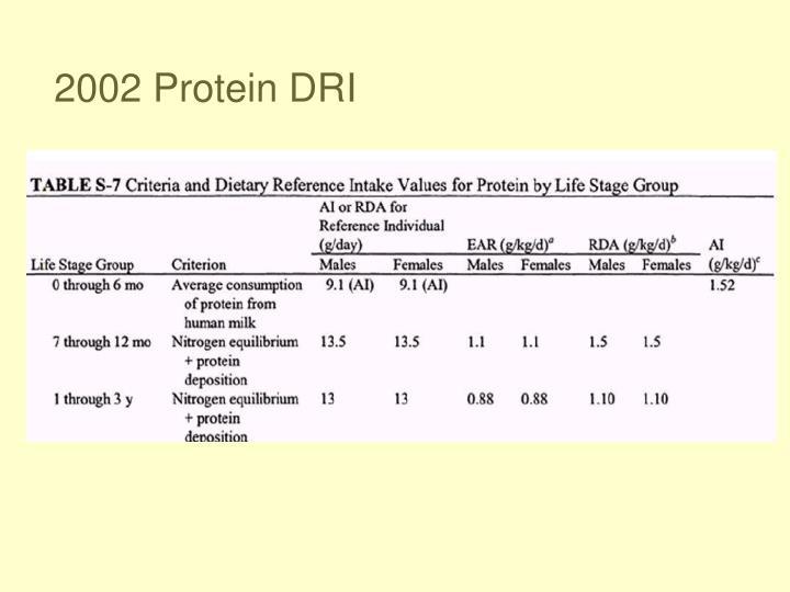 2002 Protein DRI