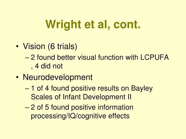 Wright et al, cont.