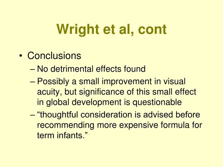 Wright et al, cont