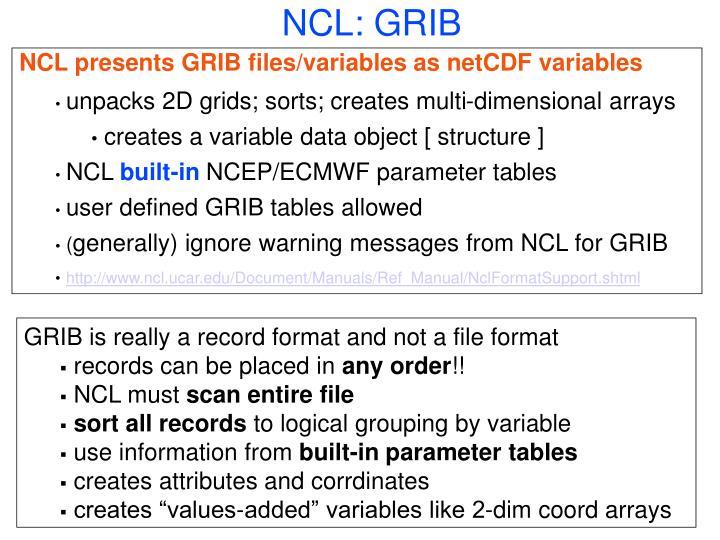NCL: GRIB