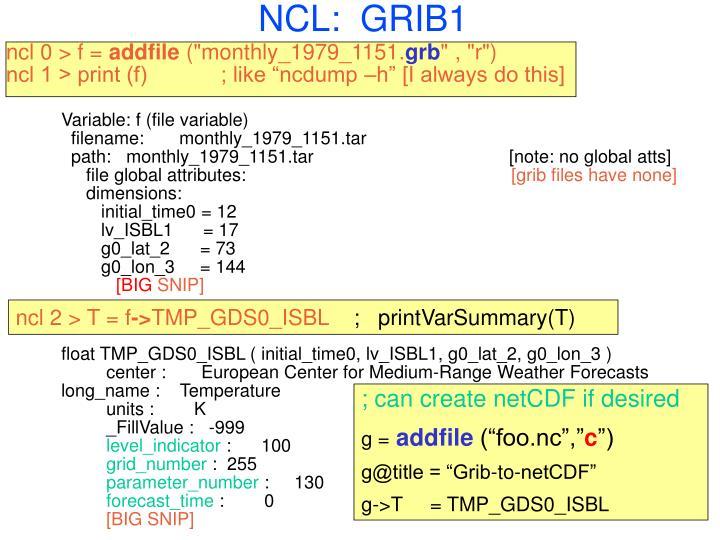 NCL:  GRIB1