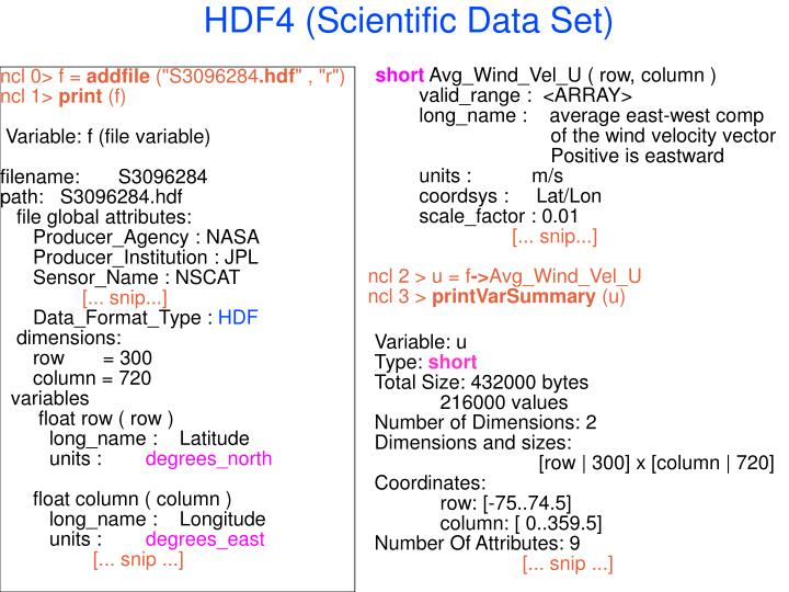 HDF4 (Scientific Data Set)