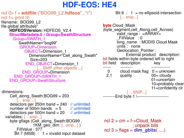 HDF-EOS: HE4