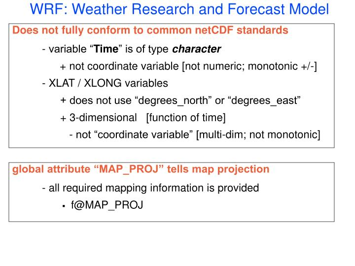 WRF: Weather Research and Forecast Model