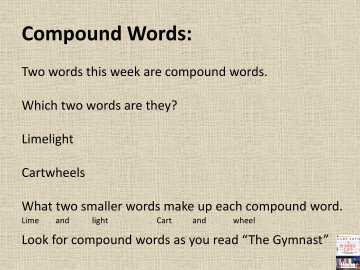 Compound Words: