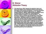 b weiner attribution theory