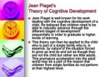 jean piaget s theory of cognitive development