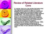 review of related literature cons