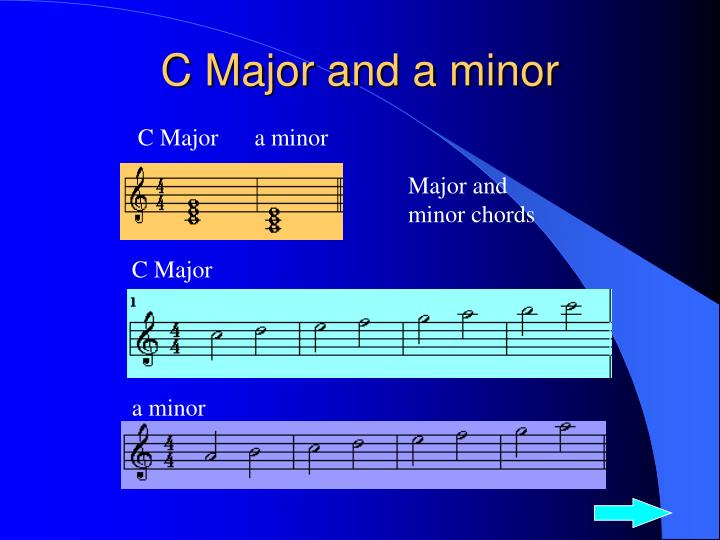 C Major and a minor