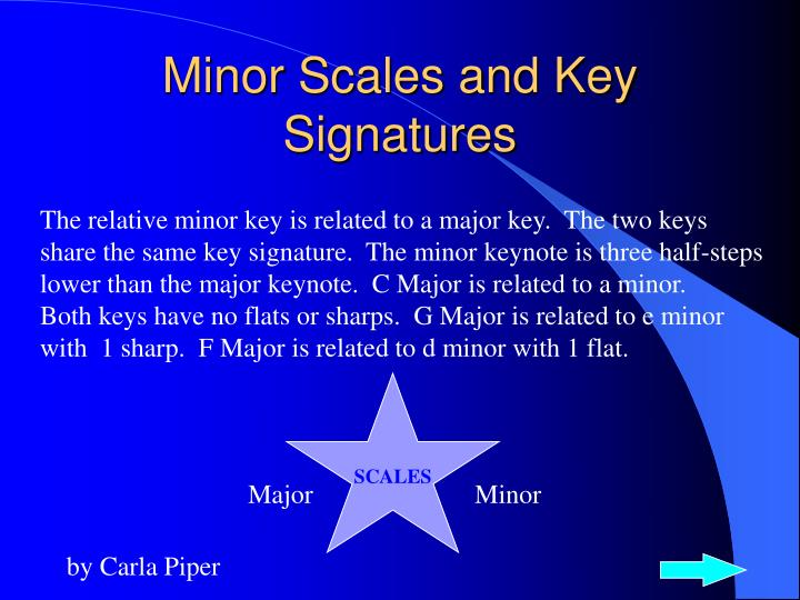 Minor scales and key signatures