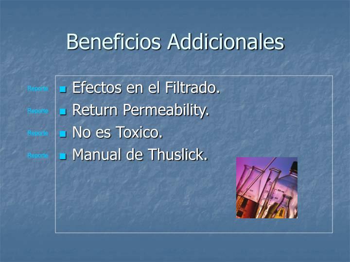 Beneficios Addicionales