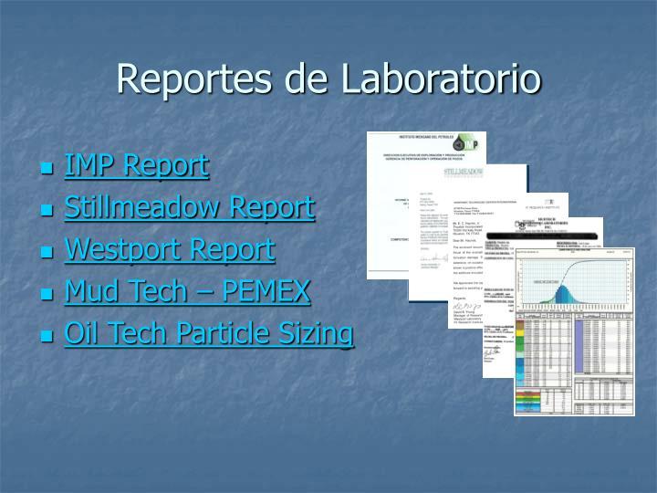 Reportes de Laboratorio