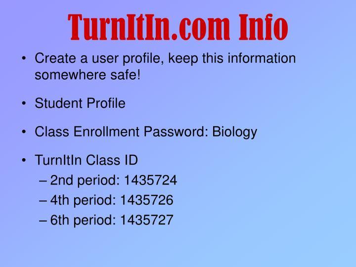 TurnItIn.com Info
